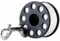 Delrin Spool 20m mit Doppelender aus V4A als Bojen-Spool, Jump oder Savety-Spool