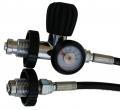 Polaris Überstömschlauch 1m G5/8 bis 300 Bar mit kleinem Manometer