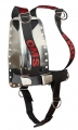 OMS Backplate mit DIR Harness (Aluminium oder Edelstahl Backplate)