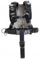 OMS Edelstahl Backplate mit Comfort Harness System III und Schrittgurt