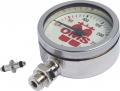 Finimeter OMS - 63 mm - mit Nickel verchromtem Gehäuse, Mineralglas, 0 - 360 Bar Skala
