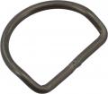 D-Ring gekröpft, geschweißt 50mm Durchmesser, 5mm dick aus Aluminium