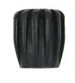 Ventil-Handrad / Rubberknop Gummi, schwarz, 40mm
