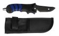 Polaris Jacketmesser aus Titanium mit spitzer Klinge (blau)
